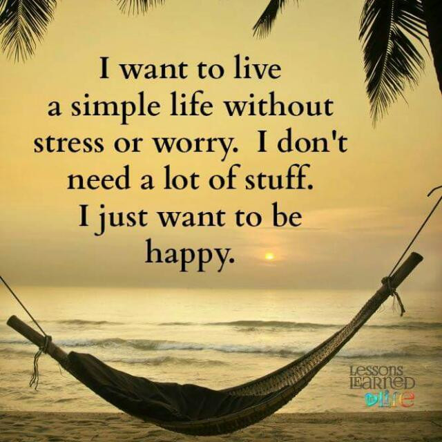 I just want to be happy