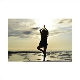 summer beach girl dance yoga