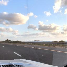 rac landscape highway sea skyline