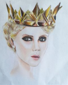 drawing queen colorful art gold freetoedit
