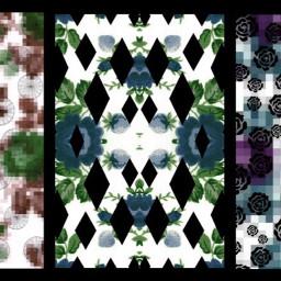 freetoedit floral pixel artwork