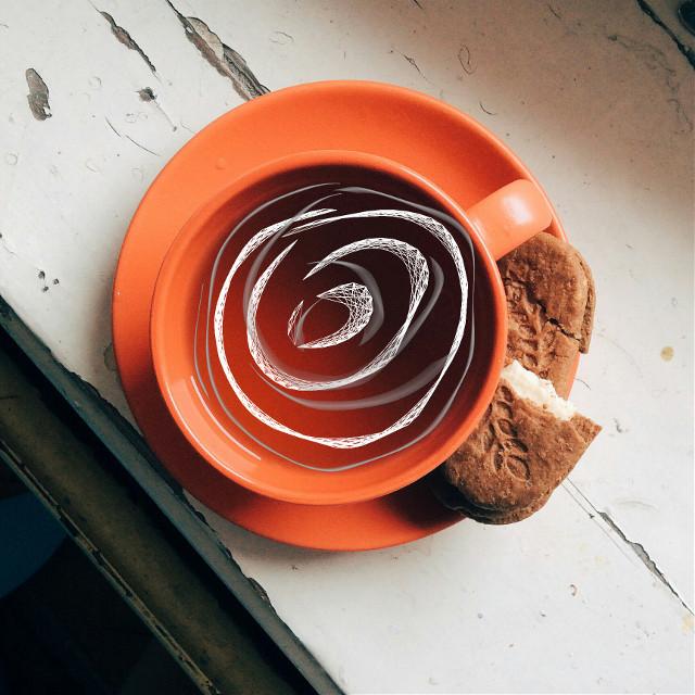 #FreeToEdit #coffie #tea #swirls