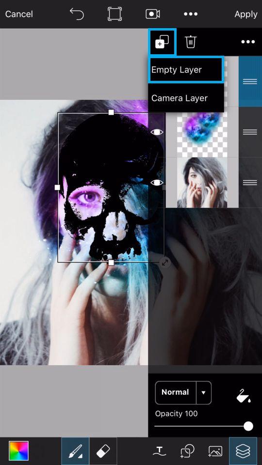 PicsArt Tutorial - Galaxy Skull 13