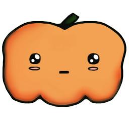 wdppumpkin cute pumpkin kawaii freetoedit
