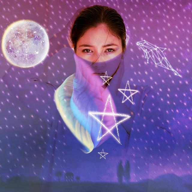 #FreeToEdit #ootd #nightscape #moon #photography #stars #northernlights #purplesky