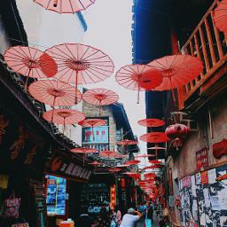 walkingstreet umbrella red chinastyle