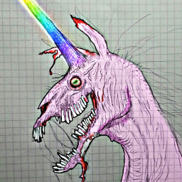 pastelgoth unicorn pink rainbow gore