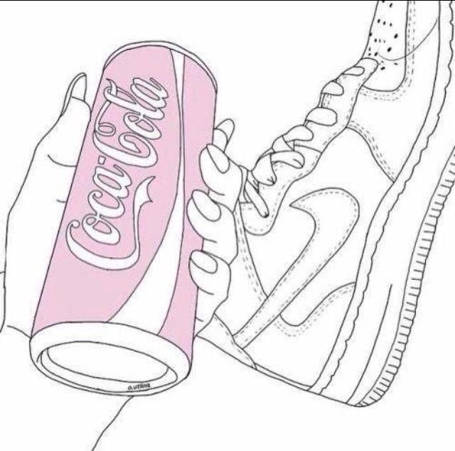 Nike tumblr. Freetoedit cocacola pink tumblrgirl