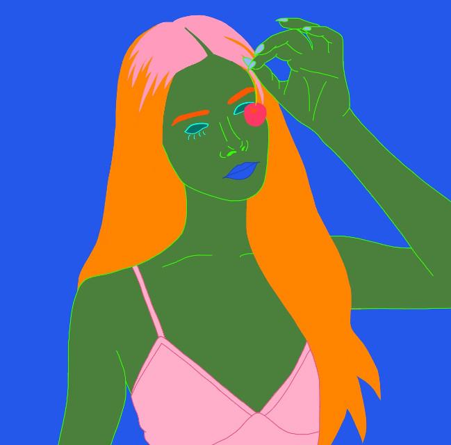 Belly of the Beat 1. Musician: Grimes Featured Model: @joannakuchta on Instagram. #interesting #art #tumblr #tumblroutline #tumblroutlines #drawing #digitaldrawing #digital #digitalart #aesthetic #FreeToEdit