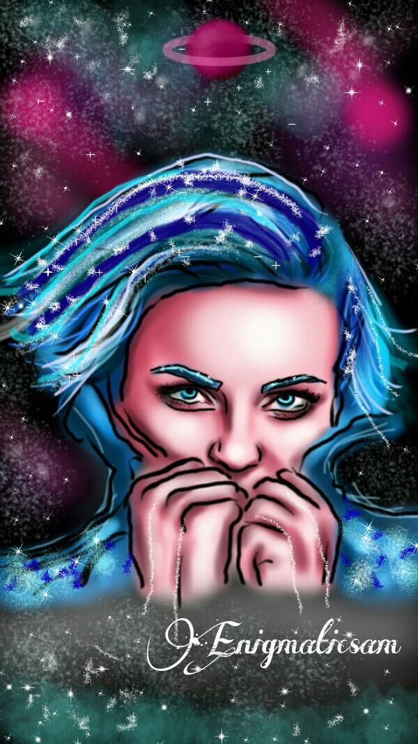 #wdpgalaxy   #drawing   #contest  #girl   #blue  #night   #fantasy   #surreal  #pink  #purple  #white  #stars  #digitaldrawing  #interesting   #digitalart  #planets